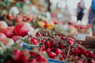 A local food market.