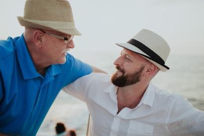 Matt with his father, Al