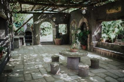 The entrance to Aiyana and Matt's villa.